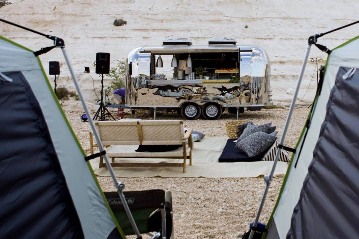 Glamping in the desert for a corporate event