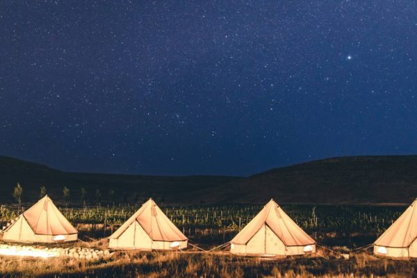 pop up glamping in the desert israel