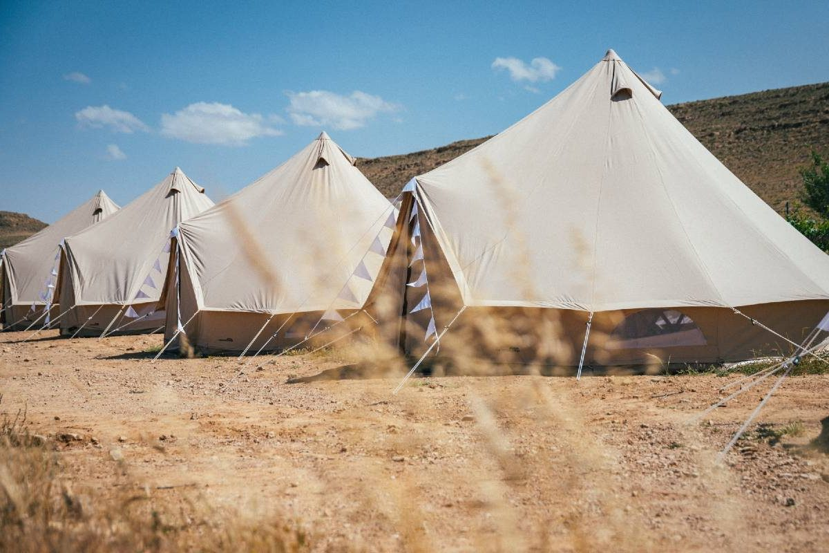 glamping israel in the desert